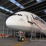 Frontansicht des Airbus 380