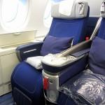 Einer der komfortablen Sitze der Business Klasse