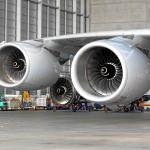 Die riesigen Turbinen des Airbus A380