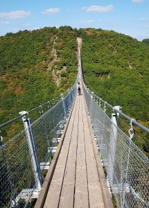 Ausflugsziel im Hunsrück: Hängeseilbrücke Geierlay