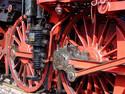 Detailaufnahme einer Dampflokomotive