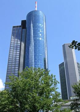 main tower in frankfurt hochhaus main tower mit aussichtsplattform und restaurant. Black Bedroom Furniture Sets. Home Design Ideas