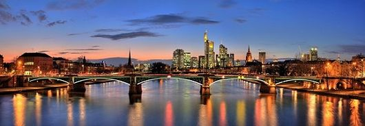 Skyline von Frankfurt im Rhein Main Gebiet